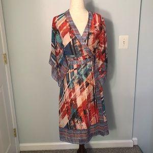 BCBGMAXAZRIA Krystie Silk Wrap Dress NWT XXS